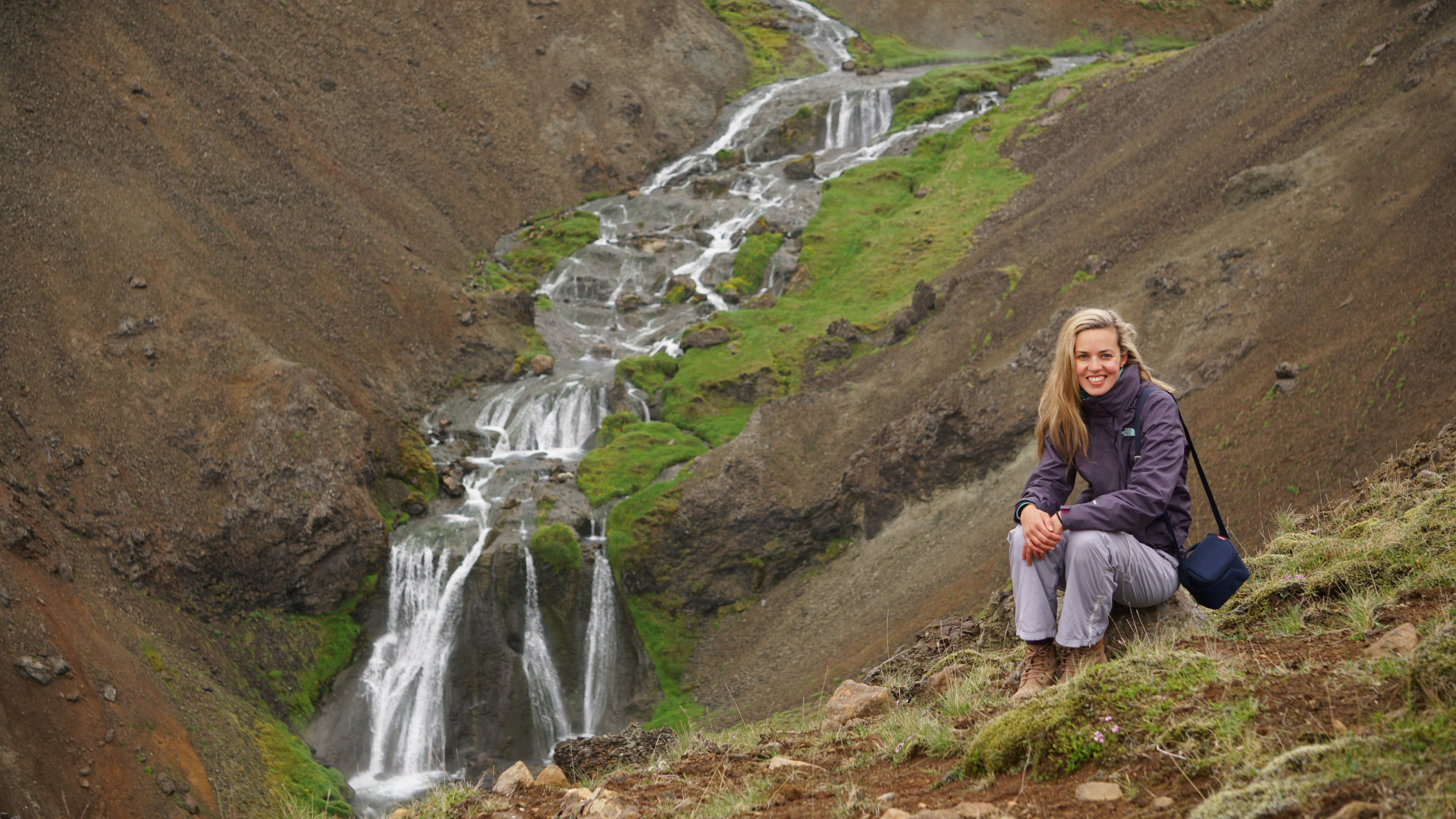 Hiking at the Steamy Valley in Iceland
