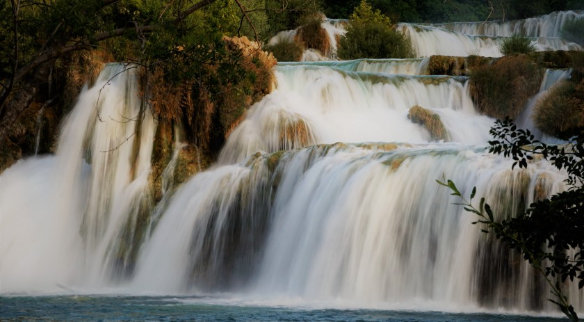 Waterfall Plitvice Lakes Croatia