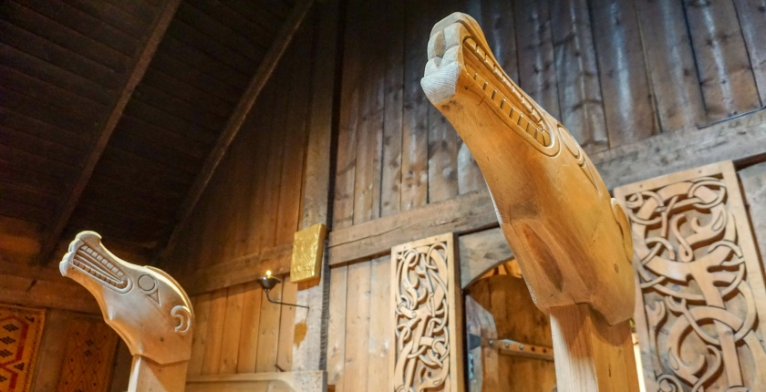 Wood carvings Lofotr viking museum Norway.jpg