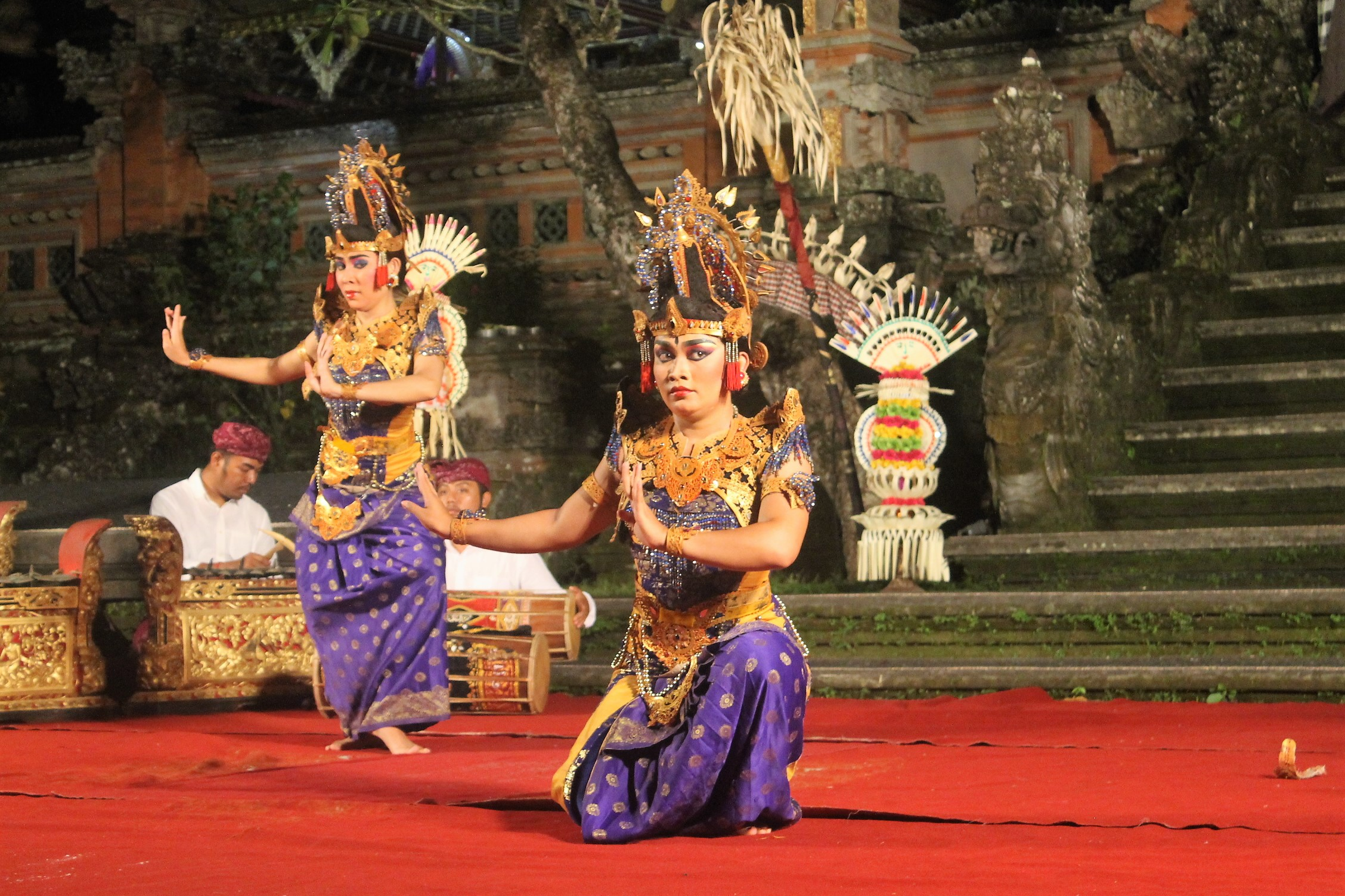 Balinese Legong Dance or courtship dance taken place at Saraswati temple Water Palace