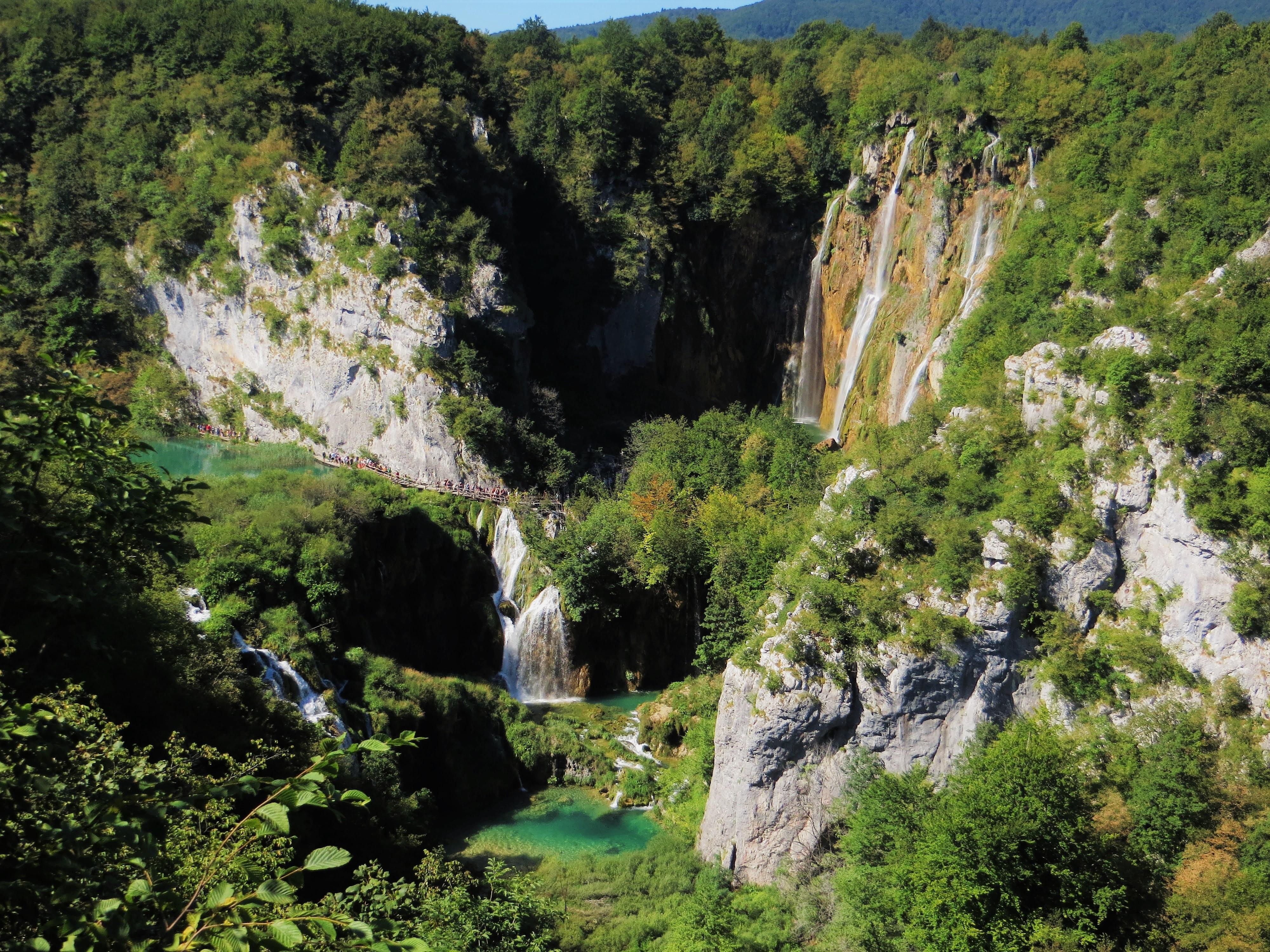 Waterfalls Plitvice Lakes National Park Croatia