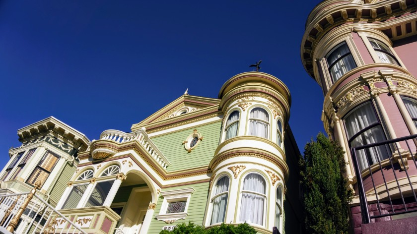 Colourful Victorian houses in San Francisco California