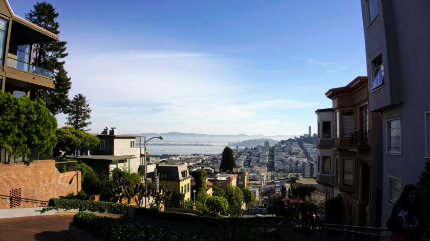 View from Lombard Street, Russian Hill District San Francisco California