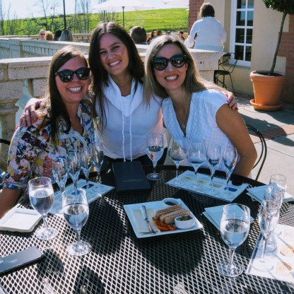 Wine tasting with friends in Napa Valley, California