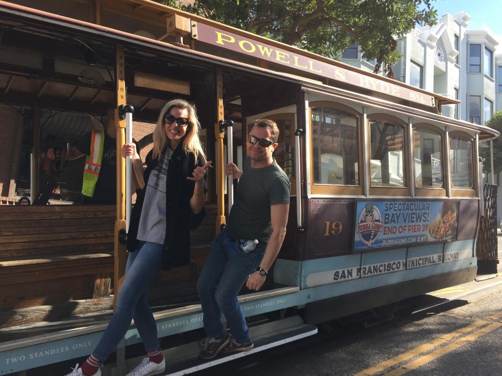 Cable Car ride in San Francisco California