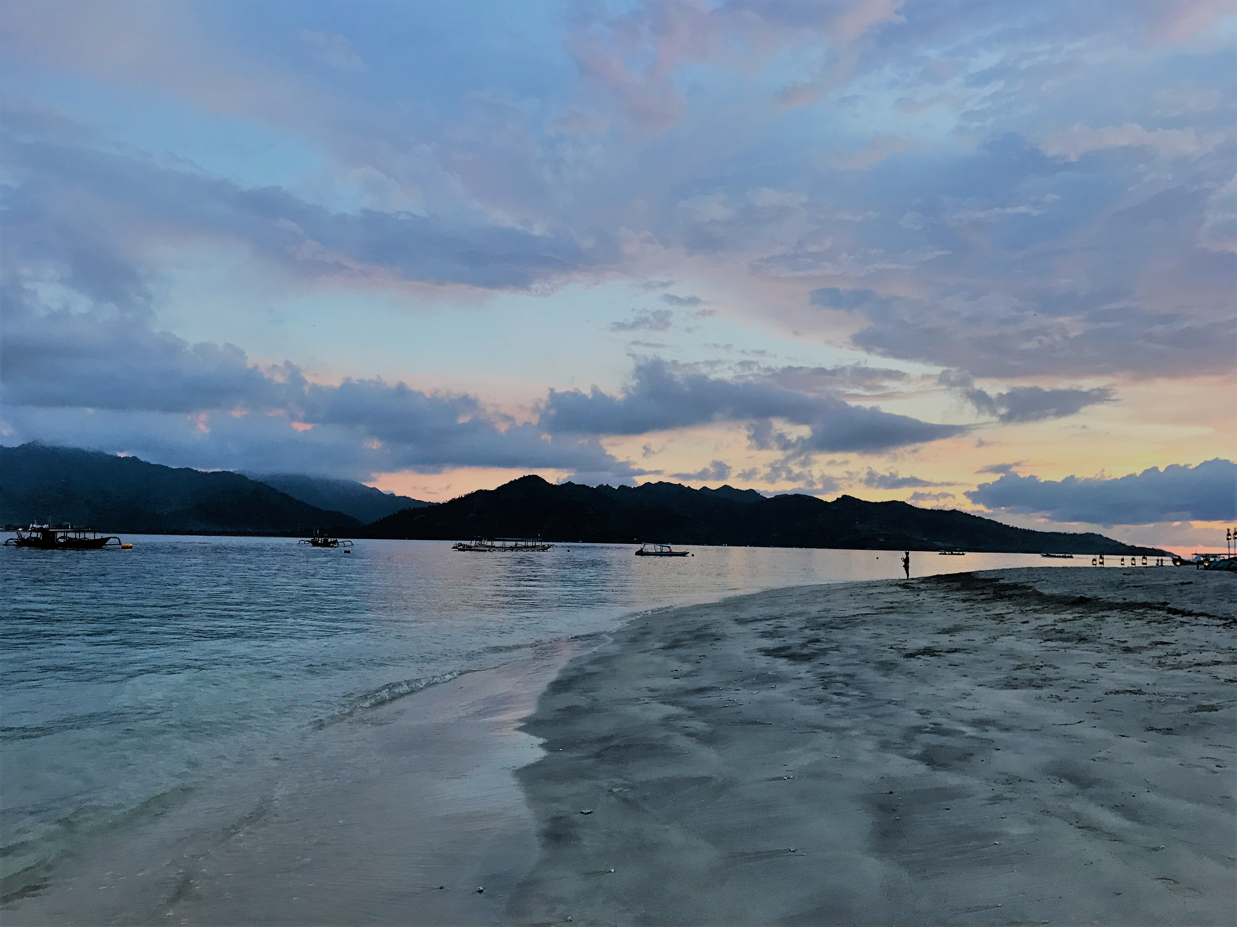 Sunset Gili Islands Indonesia