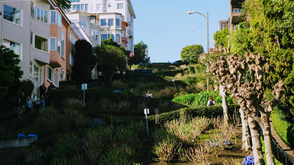 Lombard Street in Russian Hill District San Francisco California