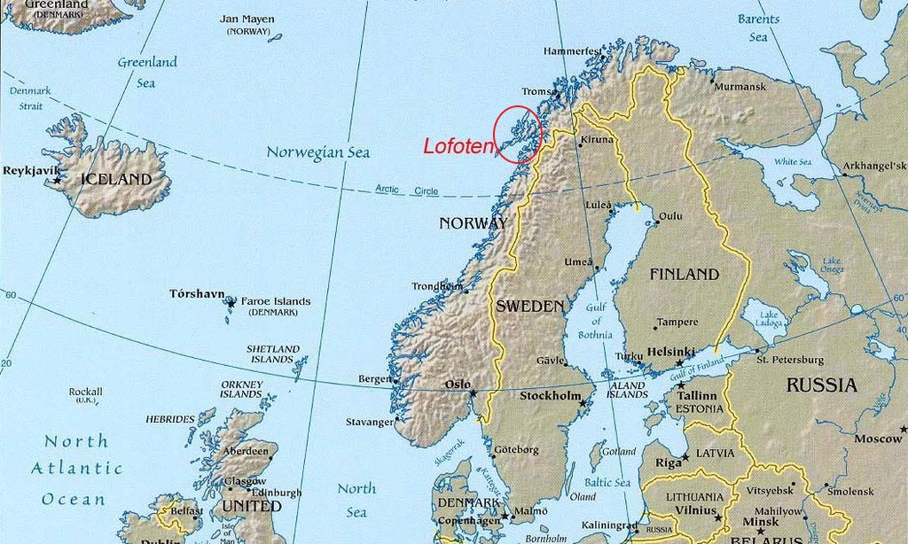 Lofoten Islands - Norway Map