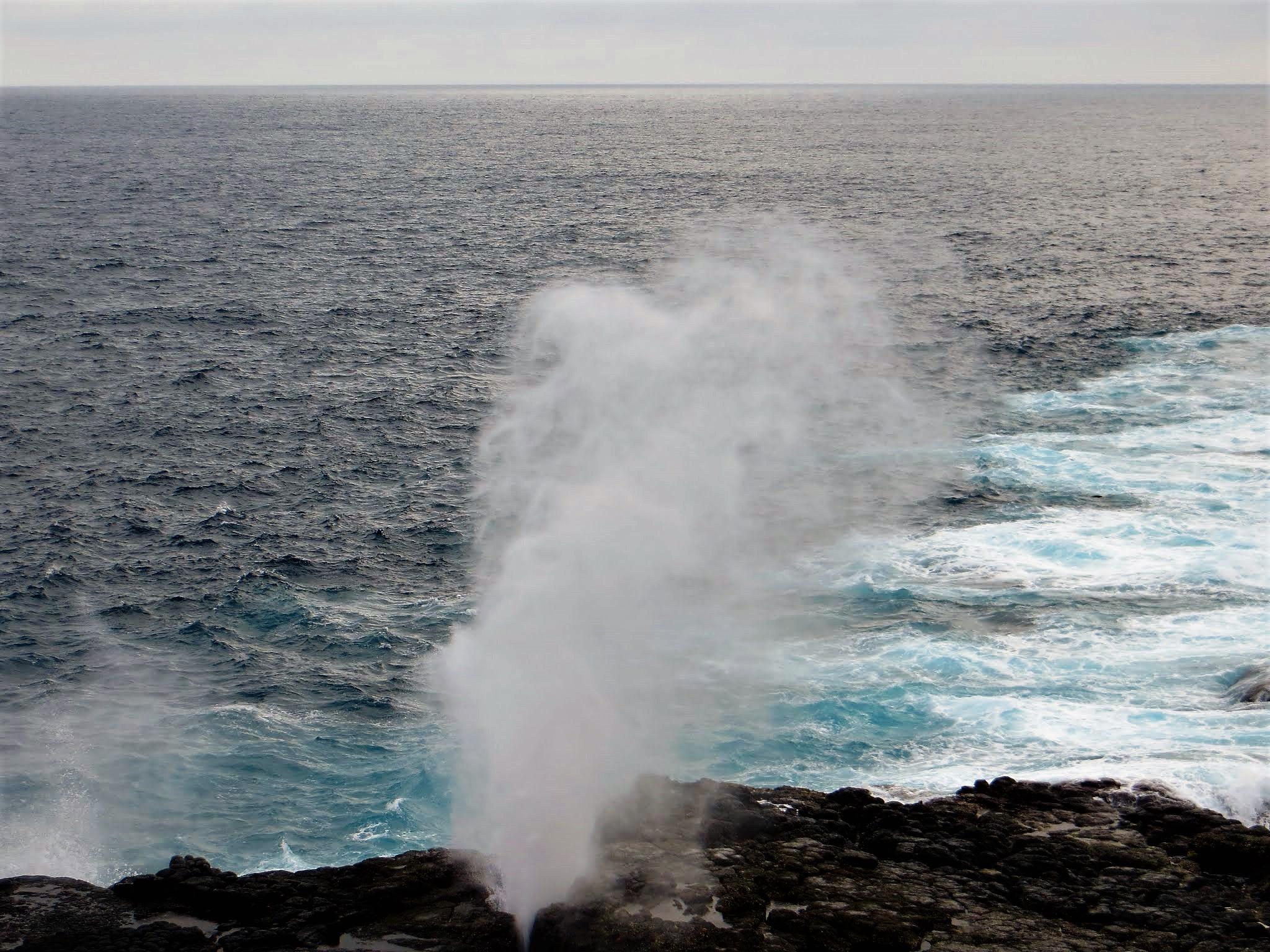 Blowhole Galapagos Punta Suarez
